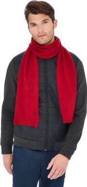 Red Cashmere Scarf In A Gift Box