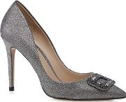 Silver Glitter High Stiletto Heel Pointed Shoes