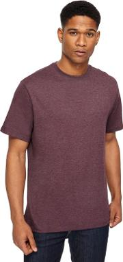 Big And Tall Purple Crew Neck T Shirt