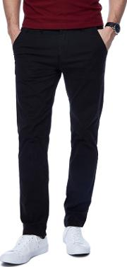 Black Tapered Fit Chinos