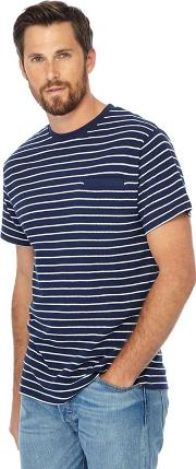 Blue Striped Long Length T Shirt