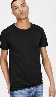 Black basic Crew Neck T Shirt