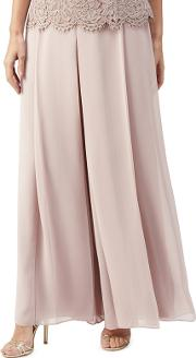 Chiffon Wide Leg Trousers