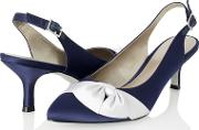 Contrast Bow Shoes