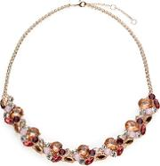 Mixed Colour Crystal Necklace