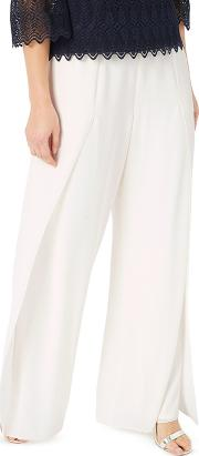 Pleat Detail Chiffon Trousers
