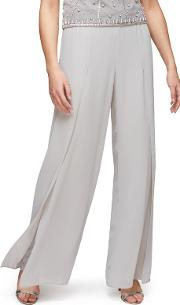 Side Split Chiffon Trousers