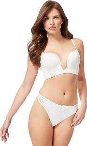 Reger By  Ivory Lace valentina Non Wired Padded Plunge Bra
