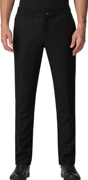 Atelier By  Black Drawstring Trousers