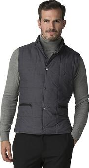 Atelier By  Gunmetal Quilted Gilet