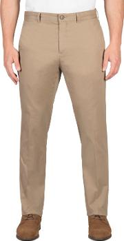 Beige Twill Chino Trousers