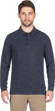 Blue Space Marl Long Sleeve Rugby Shirt