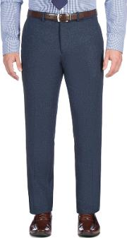 Blue Textured Weave Trouser
