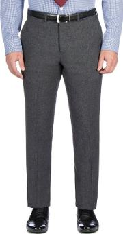 Charcoal Textured Weave Trouser