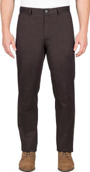 Charcoal Twill Chino Trousers