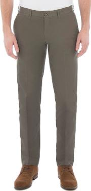 Green Twill Chino Trouser