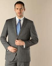Grey Check 2 Button Regular Fit Suit Jacket