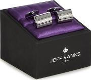 Grey Rectangular Bar Cufflinks In A Gift Box