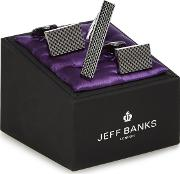 Gunmetal Tie Pin And Textured Cufflinks In A Gift Box