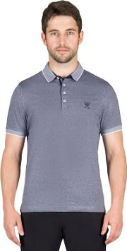 Navy Mini Stripe Polo Shirt