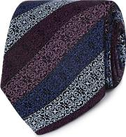Purple Geometric Floral Silk Tie