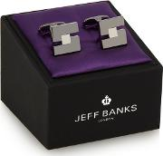 Silver Plated Square Cut Out Cufflinks