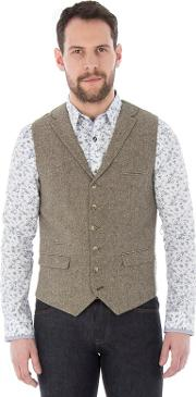 Taupe Donegal Waistcoat