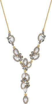No. 1  Designer Multi Crystal Y Necklace