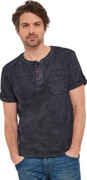 Black Out In The Sun Henley Top