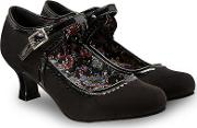 Black until Dawn Vintage Low Heel Mary Jane Shoes