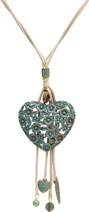 Green Heart Filigree Necklace