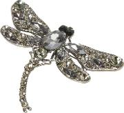 Grey Opulent Dragonfly Brooch