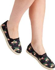 Multi Coloured Canvas funky Flamingo Espadrilles