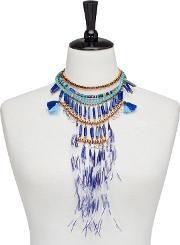 Multi Coloured Stunning Feather Necklace