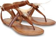 Tan Suedette sunset Beach T Bar Sandals