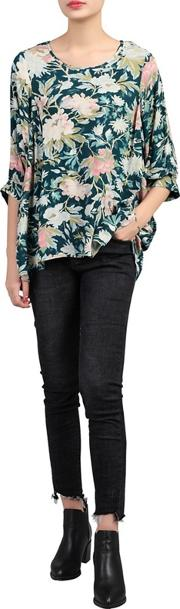 Multicoloured Floral Print Comfy Blouse