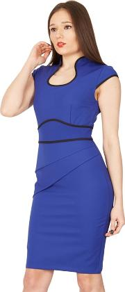 01e5135d14 Royal Contrast Fold Detail Bodycon Dress. jolie moi