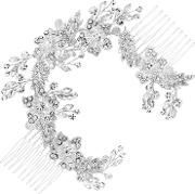 Floral Crystal Double Hair Comb