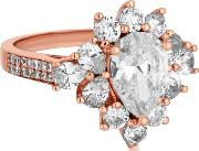 Rose Gold Cubic Zirconia Cluster Ring