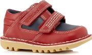 Boys Red Stitch Detailed Shoes