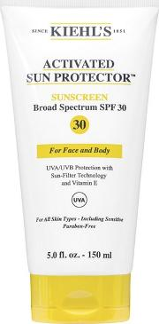 Kiehls activated Sun Protector Spf 30 Sunscreen Cream 150ml