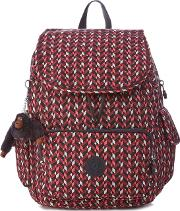 Multi Coloured Geometric Print city Backpack