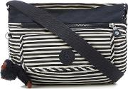 Navy Striped syro Cross Body Bag