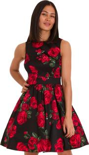 Black Rose Tea Dress