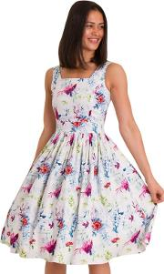White Hummingbird Dirdle Dress