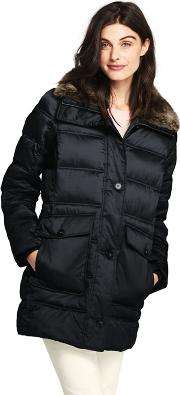 Black Thermoplume Insulated Coat
