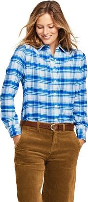 Blue Brushed Flannel Shirt