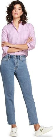 Blue Plus High Waisted Stove Pipe Ankle Jeans