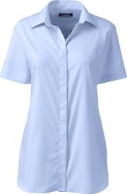 Blue Regular Supima Cotton Non Iron Camp Shirt