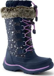 Blue Snowflake Boots